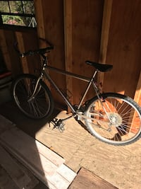 silver mountain bicycle