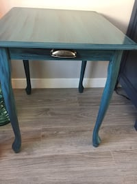 Radical Restored, antique blue blue side table , new hardware Calgary, T3R 0Z7