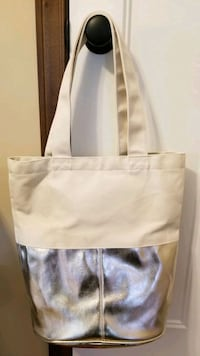 NEW Charming Charlie's Gold Canvas Tote Andover, 55304