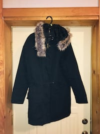Ladies Forever 21 Black Fur Coat-Size Medium