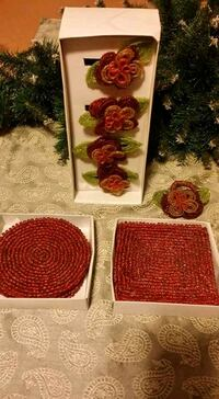 Christmas coasters and napkin rings Mississauga, L5R 3L7