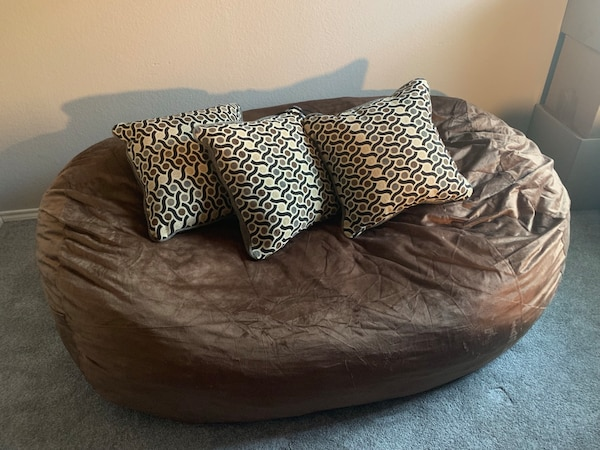 Incredible Brown Bean Bag Couch Andrewgaddart Wooden Chair Designs For Living Room Andrewgaddartcom