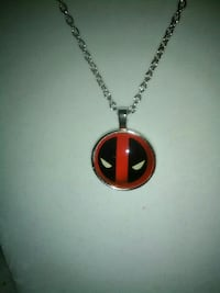 silver and red pendant necklace Inverness