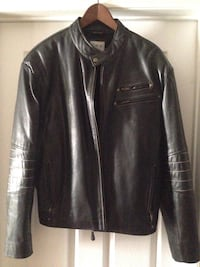 Men's large leather jacket