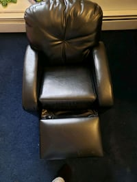 Leather toddler recliner