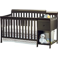Crib with changing table: 4 in 1 convertible Mobile, 36619