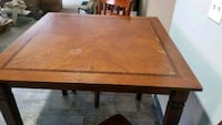 rectangular brown wooden dining table Minoa