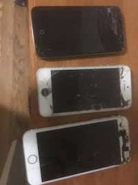 3 broken I phones 2 iPhone 5s and 1 iPhone 6 .. parts only . ..  Severn, L0K