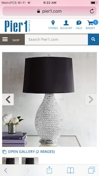 Black and white table lamp Atlanta, 30305