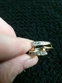 18k gold plated REAL DIAMOND ring Perry, 31069