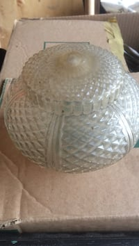 Vintage clear cut-glass light cover  Mississauga, L4T 2T9