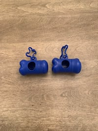New 2 dog poo bag roll dispenser holders.