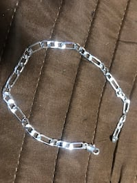 silver chain link necklace with pendant Jessup, 21076