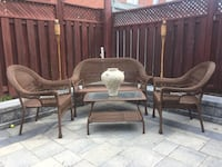 Wicker patio table  Vaughan, L4H 2S4
