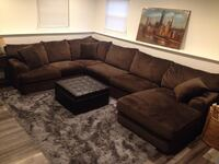 Brown sectional couch Island Lake