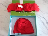red Kate Spade knit cap and pair of red gloves Barrie, L4N 5X1