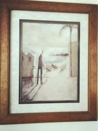 $ Cut Huge Modern Didier Lourenco Framed Art