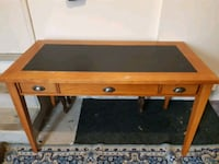 brown wooden framed glass top coffee table London, N6E 3P5