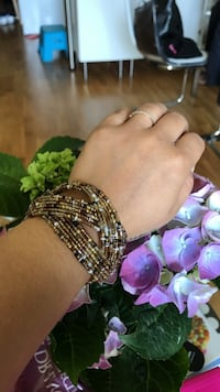 Beads bangle brown (not used)
