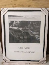Ansel Adams Art framed The Mural Project 1941+1942 Las Vegas, 89121