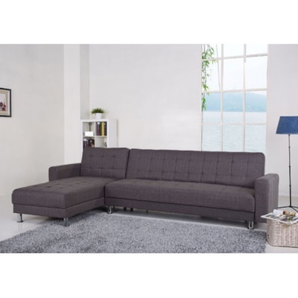 gray tufted sectional sofa