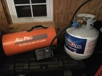 All pro heater 85,000 Dash 50,000 BTU W/propane tank also Alexandria, 22309