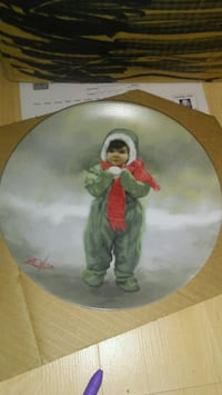 Winter Angel plate by Donald Zolan  Guelph, N1G 3N9