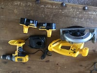 yellow and black DeWalt circular saw Los Angeles, 91405