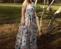 Blue and pink floral prom dress Slidell, 70458
