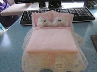 Hand Crafted Cute 2 Cats in Bed Keepsake Box Winnipeg