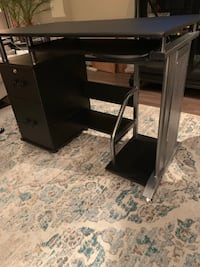 Black wooden single pedestal desk Arlington, 22202