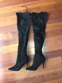 7.5 aldo black asteille knee high boots