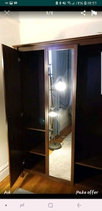 Brown Wardrobe with full length mirror New York