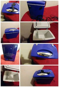 blue and white plastic container Pittsburg, 94565