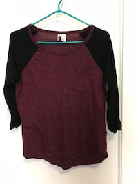 Baseball tee maroon and black Winnipeg, R3B 2P8