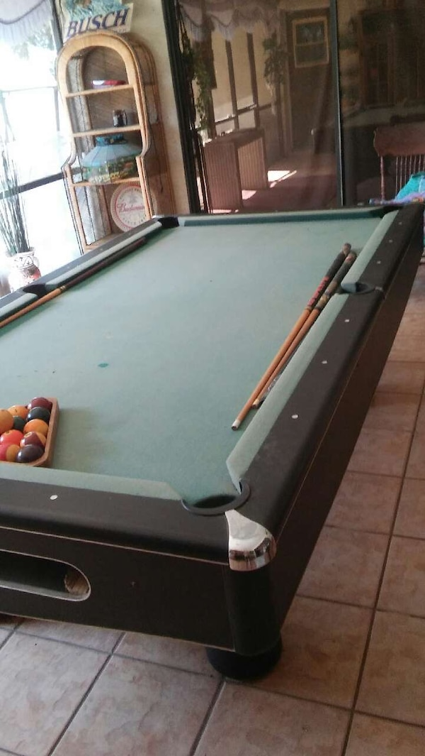 Used Teal And Black Pool Table For Sale In Fort Myers Letgo