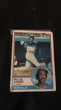Willie Aikens Royals trading card