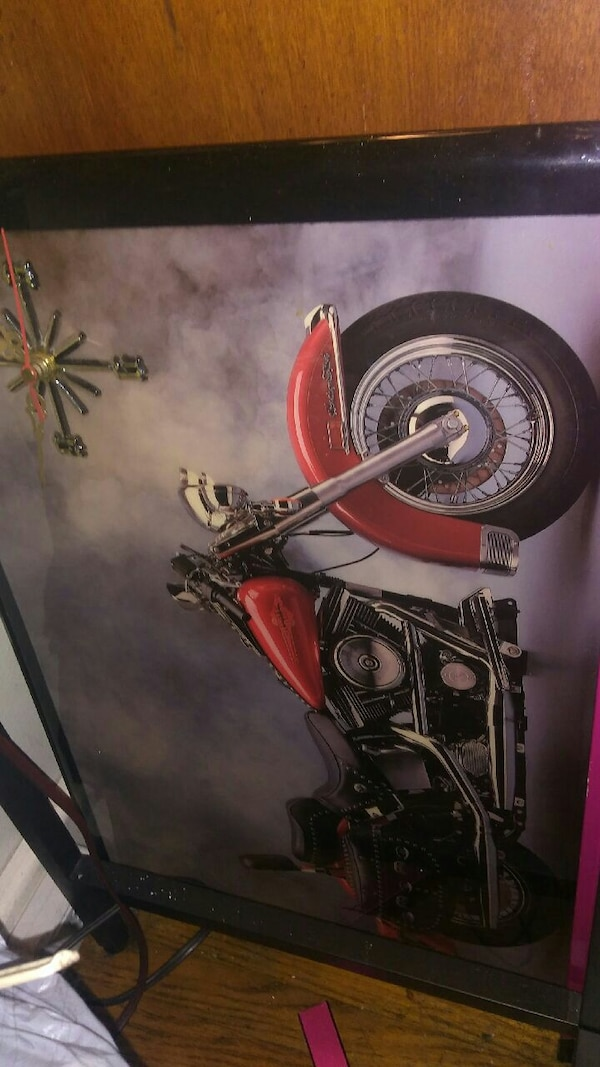 Motorcycle Clock Photo