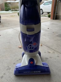 white and blue Hoover upright vacuum cleaner Kitchener, N2A 0C5