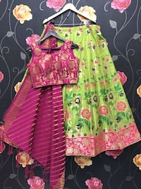 girl's pink and green floral dress Hyderabad, 500045