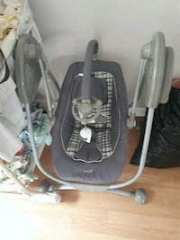 baby's gray and white swing chair London, N6J 1V6