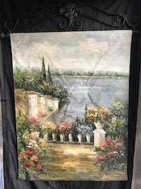 Hand painted canvas wall hanging Long Beach, 90805