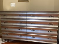 Silver leaf wooden 8-drawer dresser Gainesville, 20155