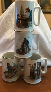 4 Norman Rockwell mugs sailor series Forest Hills, 15221