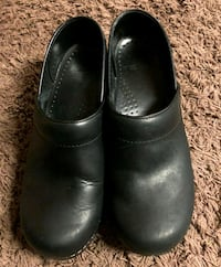 Dansko black leather shoes size  38 Roanoke, 24012