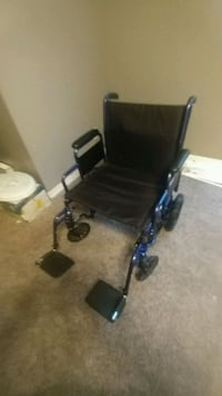 Drive blue transport chair folds up brand new Dr. Travel good deal