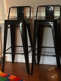 Two black metal bar stools Frederick, 21701