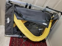 Grey and yellow travel cot New Westminster, V3M 1M4