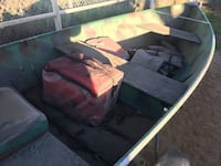 12ft aluminum boat with trailer and motor open to trades Bakersfield, 93312