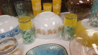 assorted colors of glass and ceramic dinnerware se